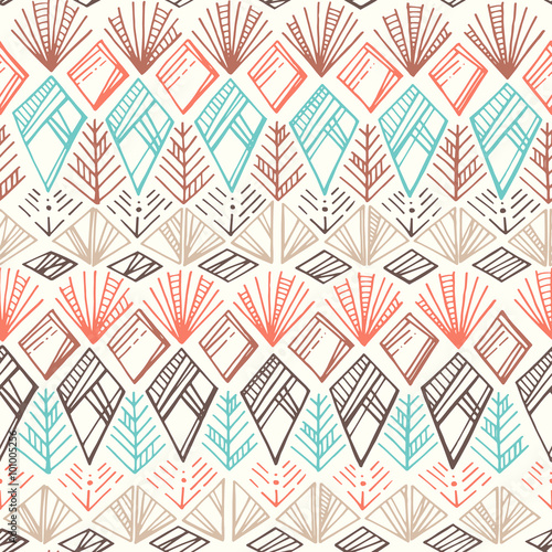 Photo sur Aluminium Style Boho Seamless Ethnic Pattern