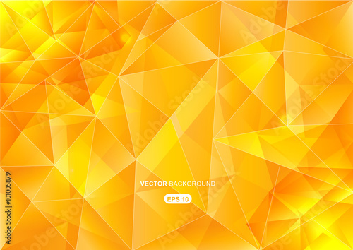 yellow abstract  geometric background with polygons