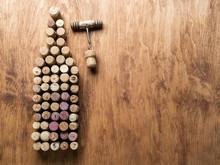 Wine Corks In The Shape Of Win...