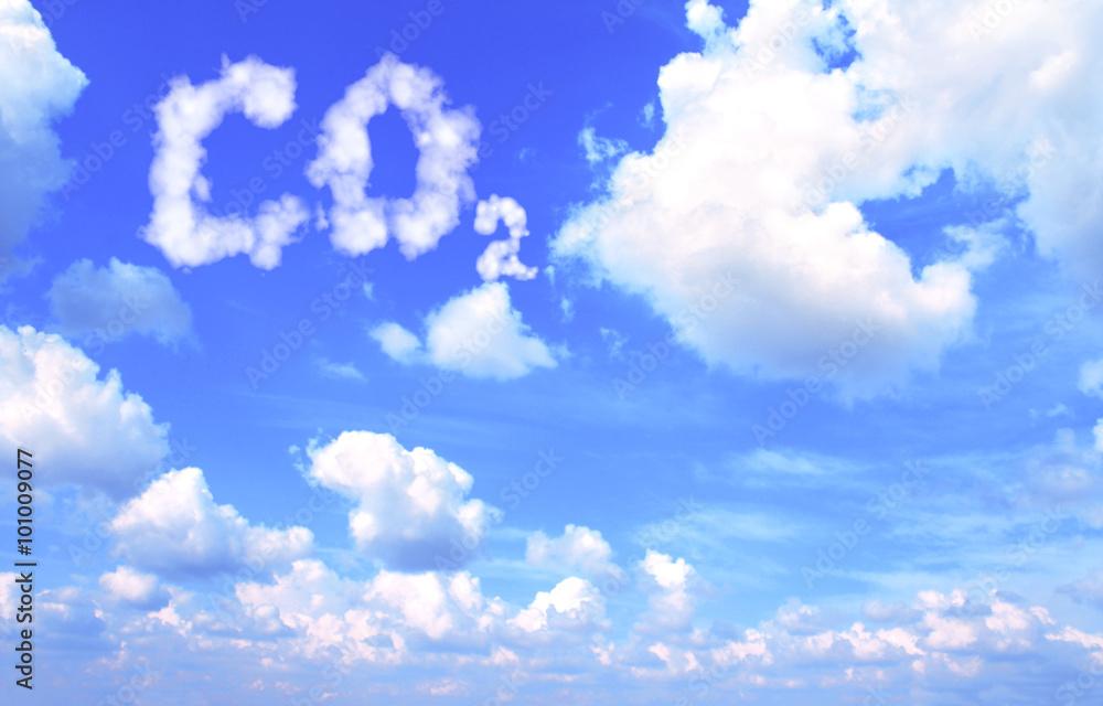Fototapeta Symbol CO2 from clouds