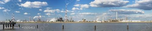 Poster Antwerp Antwerp Harbor Refinery Panorama
