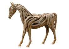 Beautiful  Horse Made Of Wood ...