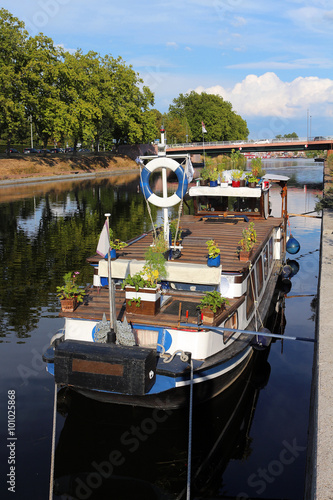 Fotografie, Obraz  tourisme fluvial - plaisancier