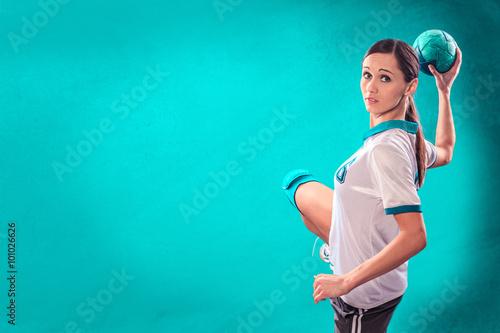 Fototapeta handball girl