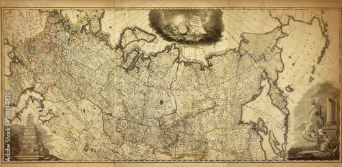 Old map of the Russia, printed in 1786 Tablou Canvas