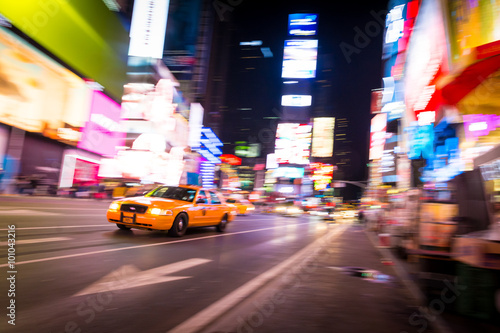 Photo  New York Times Square Taxi