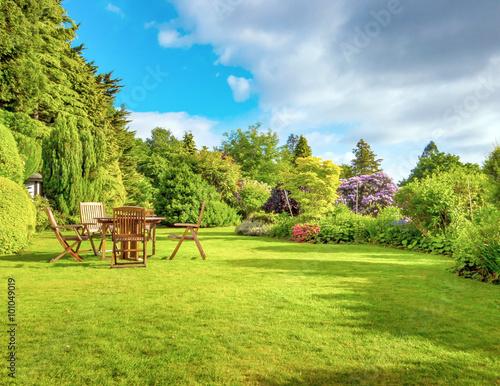 Aluminium Prints Garden English garden
