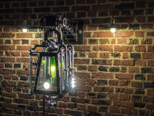 Street Lamp In The Style Of Steampunk