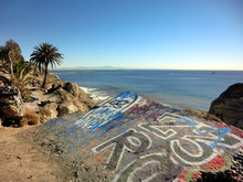 Concrete Slab With Graffiti On California Coast - Landscape Photo