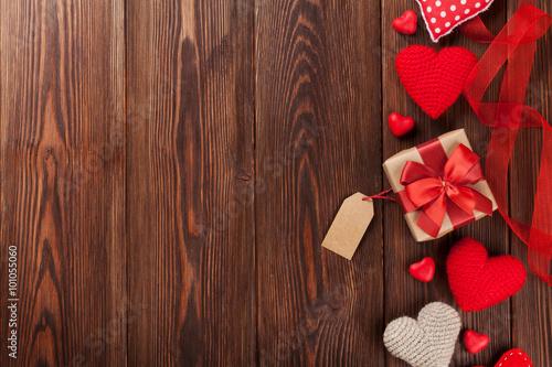 Fotografie, Obraz  Valentines day background with hearts