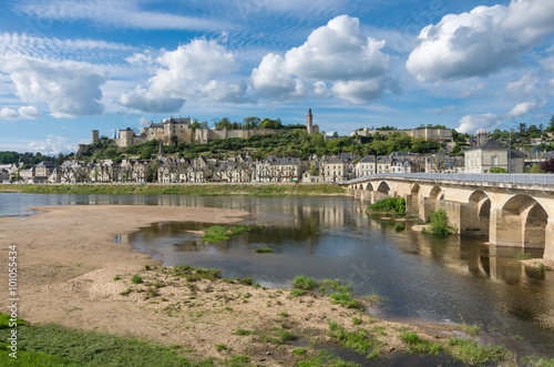 Chinon castle. Loire valley