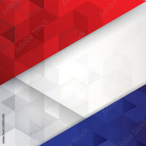 France flag colors abstract background. Wallpaper Mural