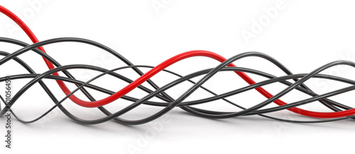 Fotografía  Colored cables. Image with clipping path.