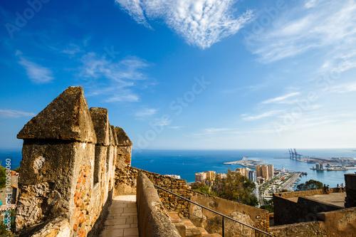 Fotografía  View of Malaga port, Spain