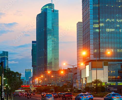 Foto op Plexiglas Indonesië Jakarta Downtown, Indonesia