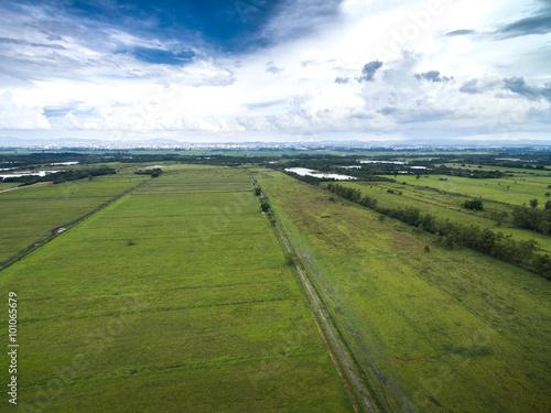 Foto op Aluminium Purper Aerial view of a huge farm in Goias, Brazil