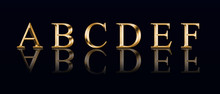 """Golden Alphabet From """" A"""" To """"..."""
