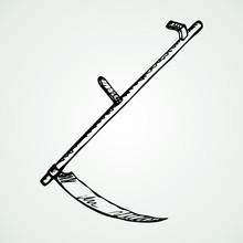 Iron Scythe. Vector Drawing