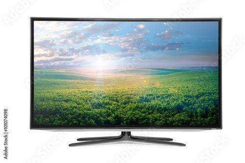 Fototapeta 4k monitor isolated on white