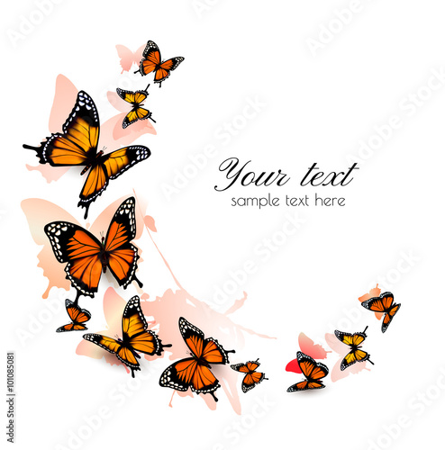 Deurstickers Vlinder Beautiful butterfly background. Vector.