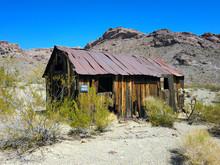 Abandoned Wooden Shack In The Arizona Desert - Landscape Photo