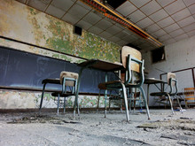 Abandoned School Classroom Wit...