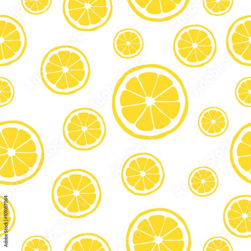 Tapeta ścienna na wymiar Lemon pattern