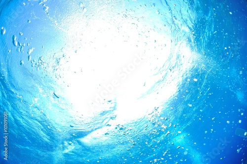 ダイバーの泡