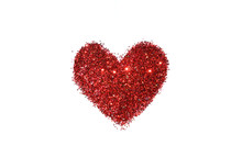 Abstract Heart Of Red Glitter ...