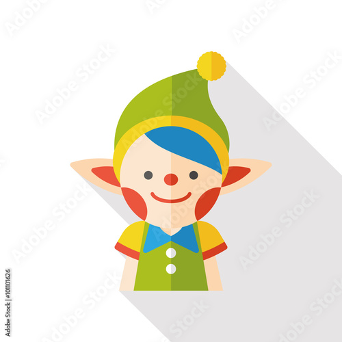 plakat fairy tale elves flat icon