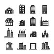 Leinwanddruck Bild - Building shop icon set