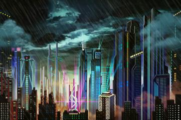 fototapeta Ilustracja miasto