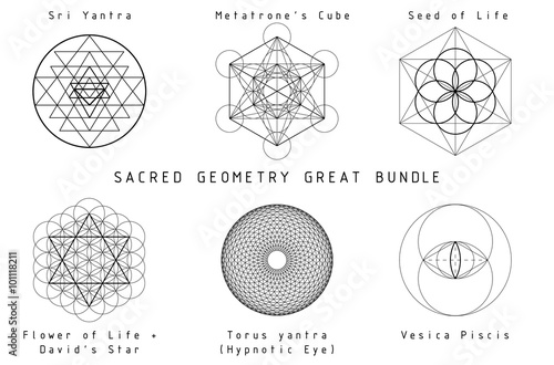 Leinwand Poster  Sacred Geometry Set, tolles Bundle
