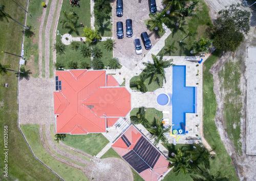 Fotografija  Top View of Farmhouse, Brazil