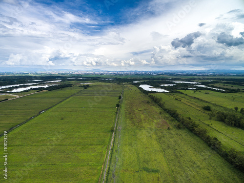 Fotografie, Obraz  Aerial View of a Farm in Goias, Brazil