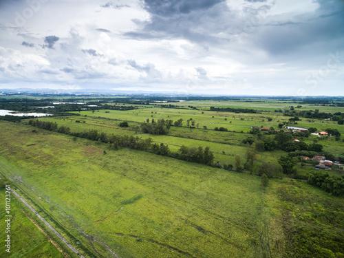 Fotografija  Aerial View of a Farm in Goias, Brazil