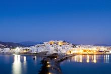 """The """"Chora"""" Of Naxos, At Naxos Island, Greece"""
