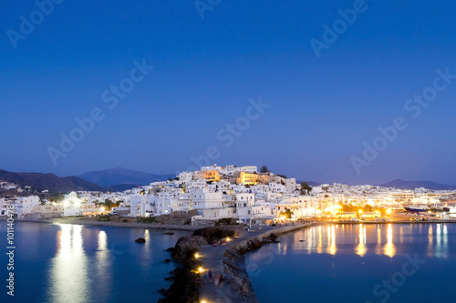 Платно The Chora of Naxos, at Naxos island, Greece