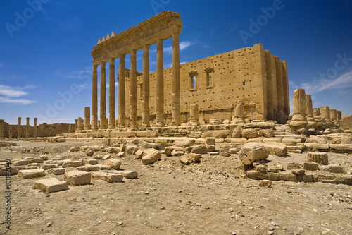 Fotobehang Midden Oosten Syria. Palmyra (Tadmor). The sanctuary of Bel. This site is on UNESCO World Heritage List