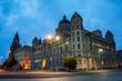 Liverpool, UK illuminated old buildings