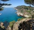 View from Tossa towards Lloret-de-mar, Costa Brava, Catalonia, S