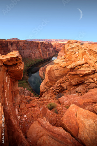 Foto op Canvas Baksteen famous view of Grand Canyon , Arizona