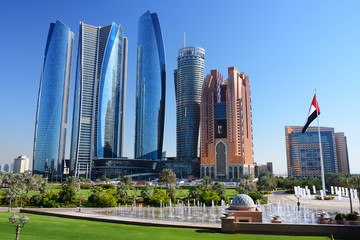 Naklejka Skyscrapers of Abu-Dhabi