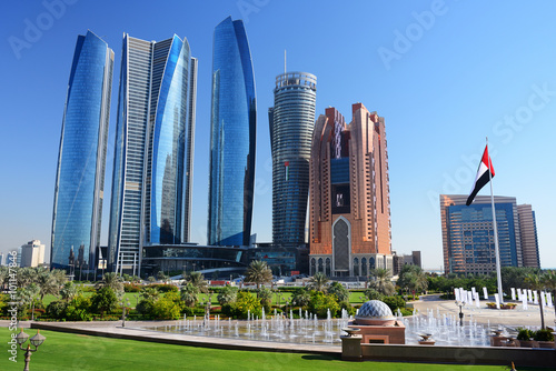 Canvas Prints Abu Dhabi Skyscrapers of Abu-Dhabi
