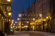 Toruń zima miasto ulica Szeroka