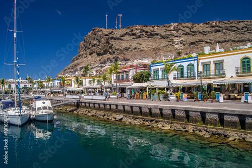 Canvas Prints Port Hafenpromenade in Puerto de Mogán