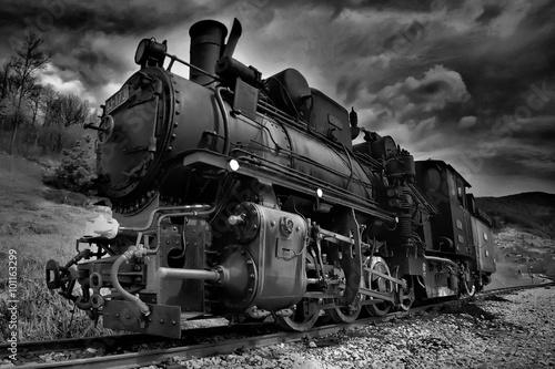 Cuadros en Lienzo Steam locomotive narrow gauge railway in Mokra Gora called Sargan eight