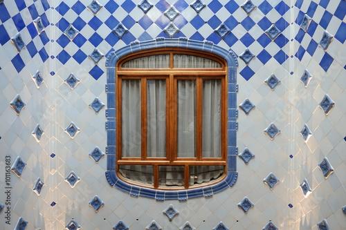 Fotografia  BARCELONA - DECEMBER 23: The house Casa Batllo (interior) designed by Antoni Gaudi on December 23, 2014 in Barcelona, Spain