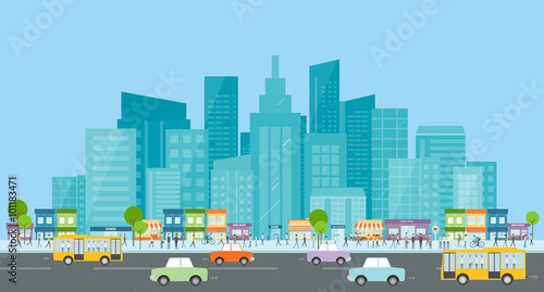 city traffic .people business in city .business communication.crowd on street.city life.