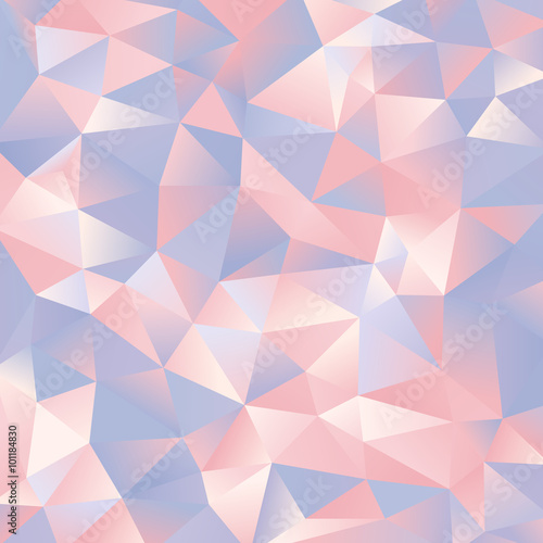 Wallpaper Mural abstract light blue and pink paper triangles design background